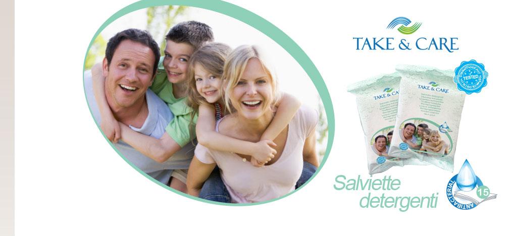 Salviette detergenti per la famiglia